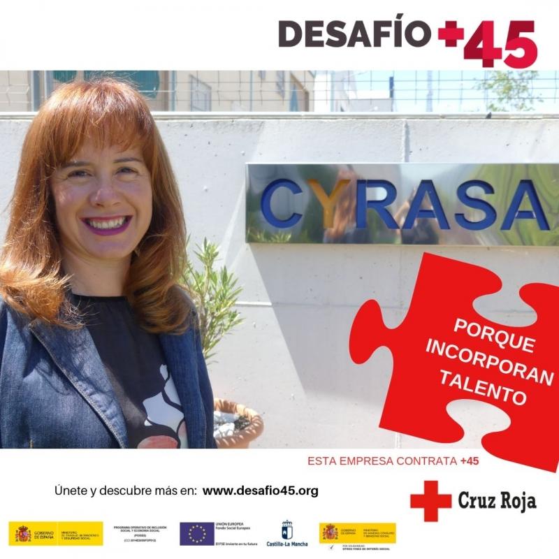 Fragaservi colabora con la iniciativa #Desaf�oM�s45, una campa�a de Cruz Roja para visibilizar en el mercado laboral a las personas mayores de 45 a�os